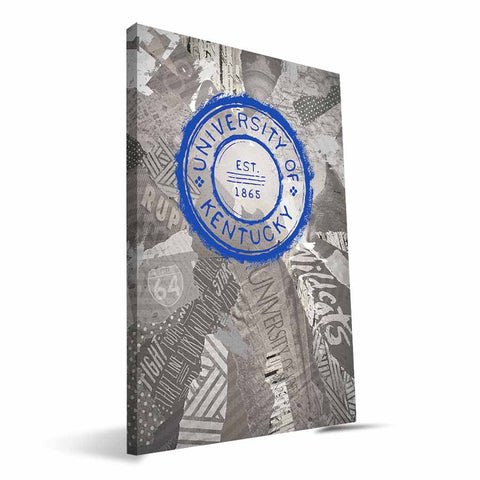Kentucky Wildcats Scrapbook Canvas Print