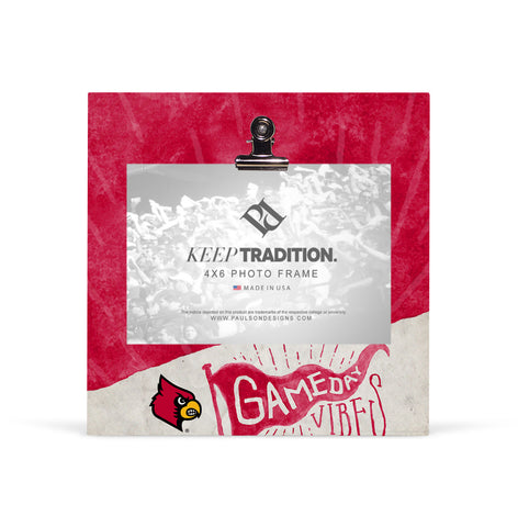 Louisville Cardinals Gameday Vibes Picture Frame with Clip