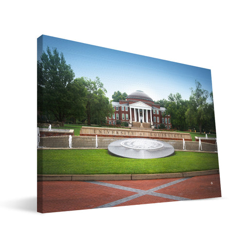 Louisville Cardinals Louisville Administration Building Canvas Print
