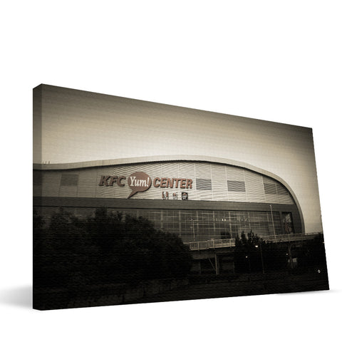 Louisville Cardinals KFC Yum! Center Canvas Print