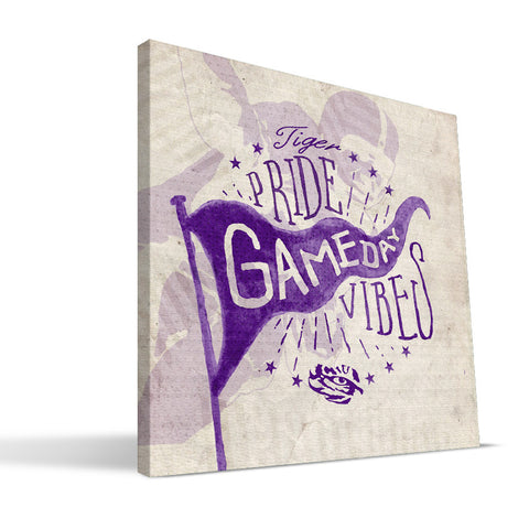 LSU Tigers Gameday Vibes Canvas Print