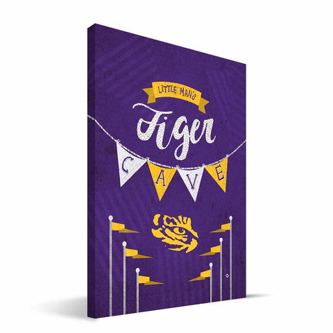 LSU Tigers Little Man Canvas Print