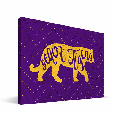LSU Tigers Mascot Canvas Print