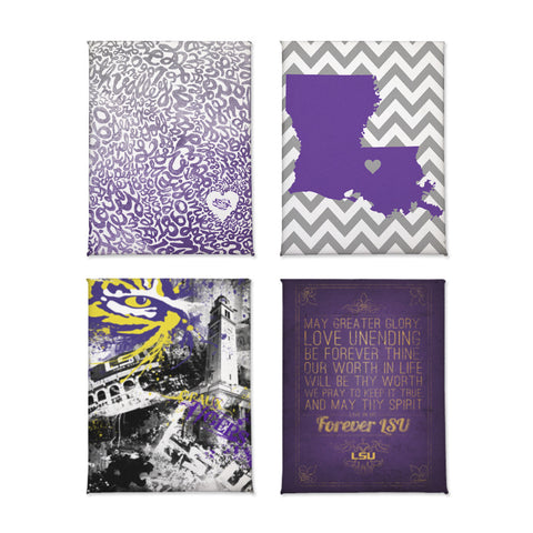 LSU Tigers Magnet Set