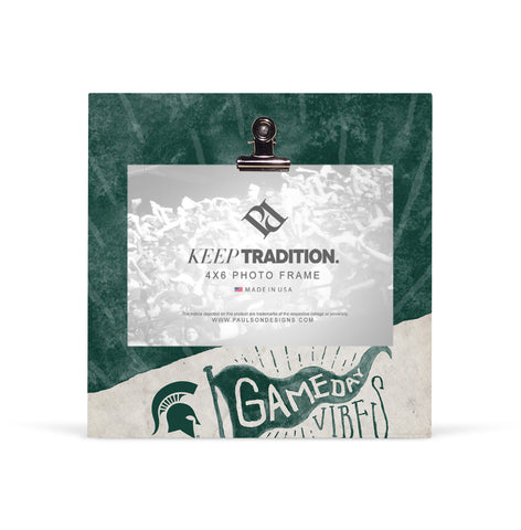 Michigan State Spartans Gameday Vibes Picture Frame with Clip