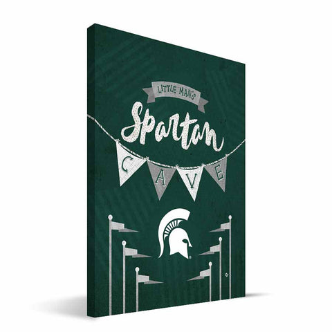 Michigan State Spartans Little Man Canvas Print
