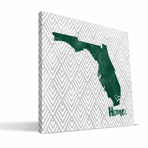 Miami Hurricanes Home Canvas Print