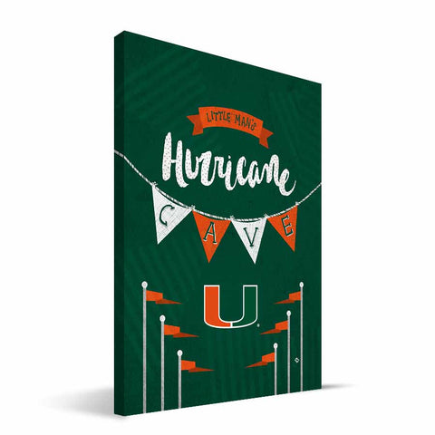 Miami Hurricanes Little Man Canvas Print