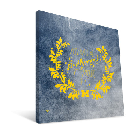 Michigan Wolverines Favorite Thing Canvas Print