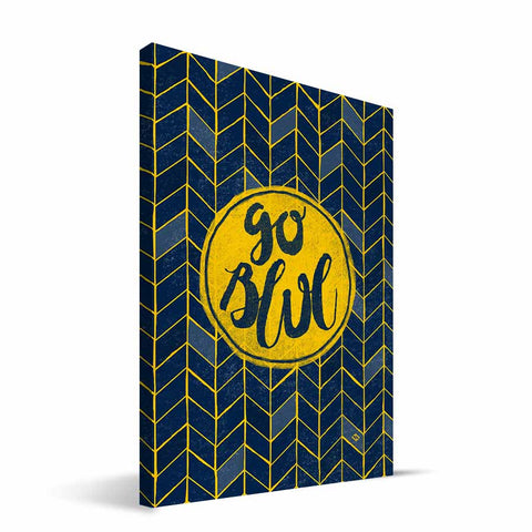 Michigan Wolverines Geometric Canvas Print