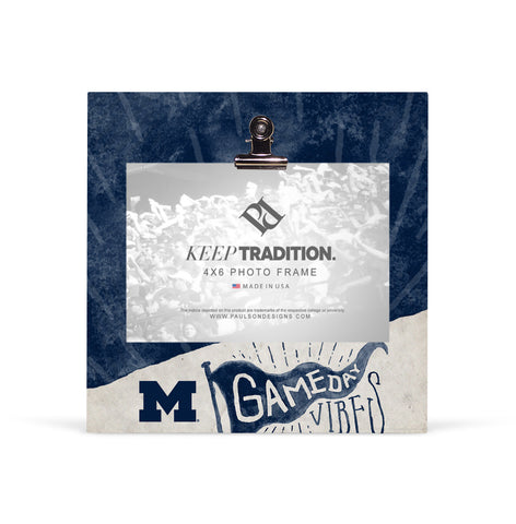 Michigan Wolverines Gameday Vibes Picture Frame with Clip