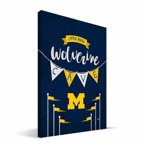 Michigan Wolverines Little Man Canvas Print