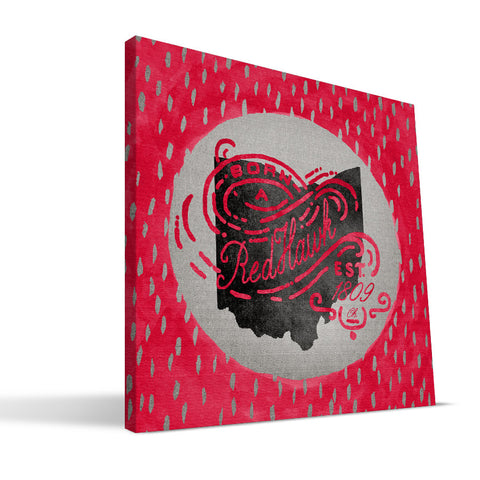 Miami University RedHawks Born a Fan Canvas Print