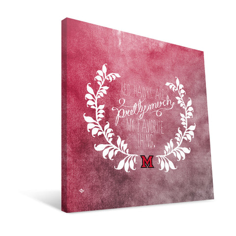 Miami University RedHawks Favorite Thing Canvas Print