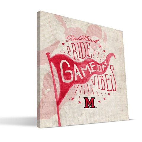 Miami University RedHawks Gameday Vibes Canvas Print