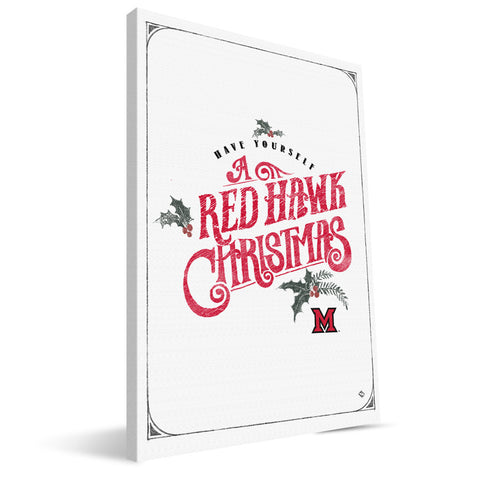 Miami University RedHawks Merry Little Christmas Canvas Print