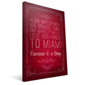 Miami University RedHawks Song Canvas Print