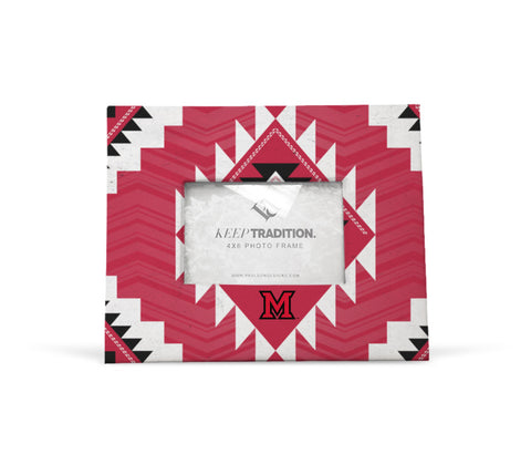 Miami University RedHawks Tribal Picture Frame