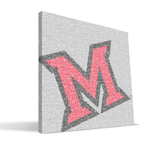 Miami University RedHawks Typo Canvas Print