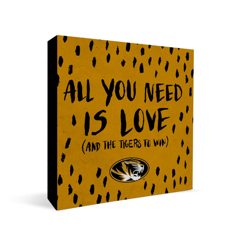 Missouri Tigers All You Need Square Shelf Block