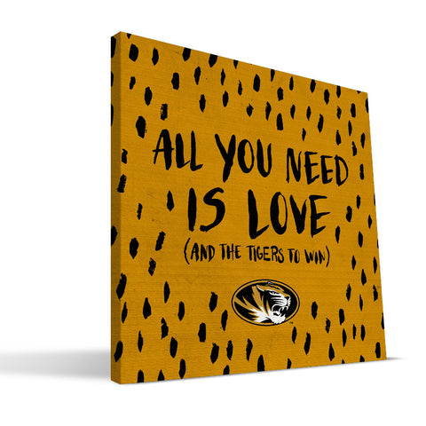 Missouri Tigers All You Need Canvas Print
