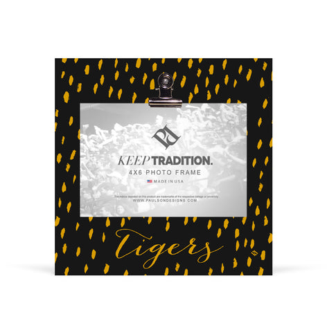 Missouri Tigers Rally Cry Brush Mark Picture Frame with Clip