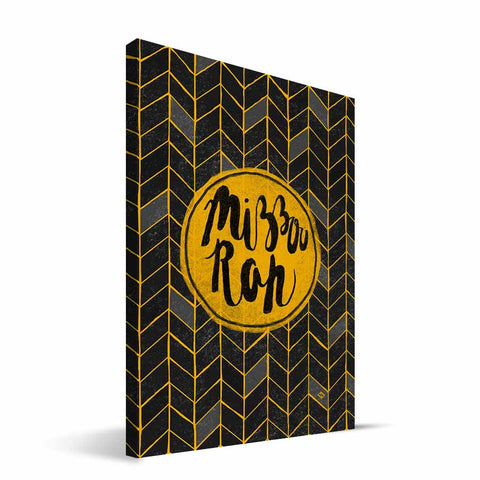 Missouri Tigers Geometric Canvas Print