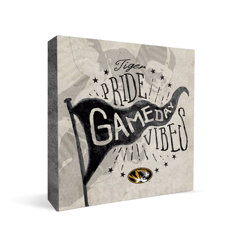 Missouri Tigers Gameday Vibes Square Shelf Block