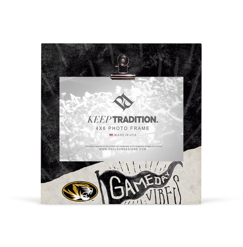 Missouri Tigers Gameday Vibes Picture Frame with Clip