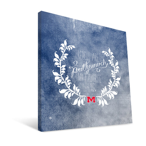 Ole Miss Rebels Favorite Thing Canvas Print
