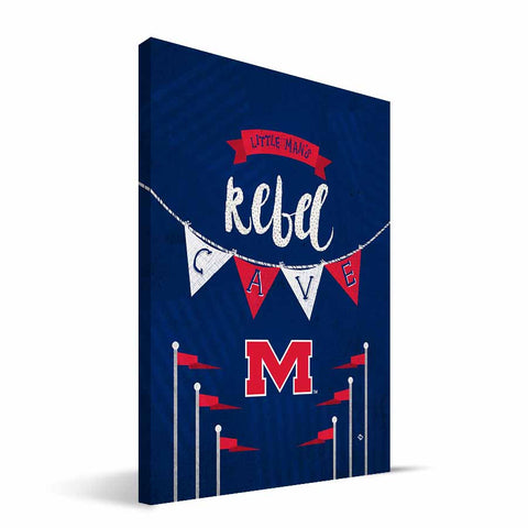 Ole Miss Rebels Little Man Canvas Print