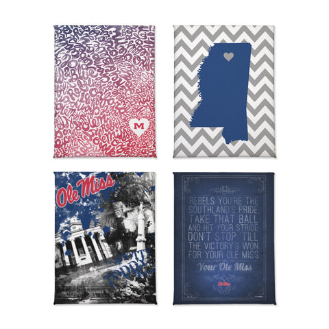 Ole Miss Rebels Classics Magnet Set