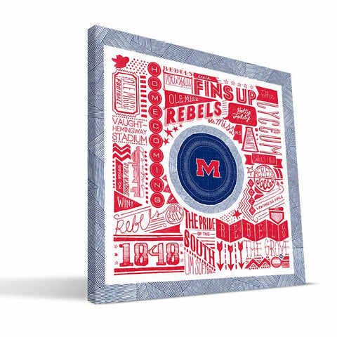 Ole Miss Rebels Pictograph Canvas Print