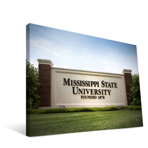 Mississippi State Bulldogs Campus Entry Canvas Print