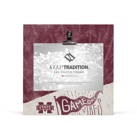 Mississippi State Bulldogs Gameday Vibes Picture Frame with Clip