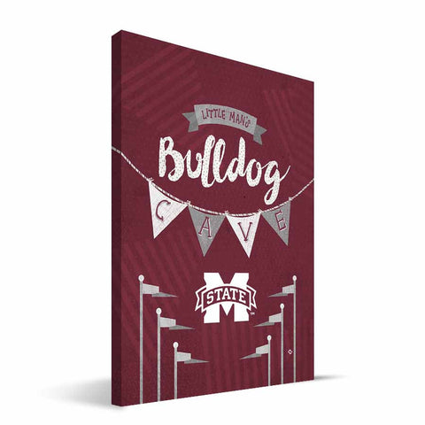 Mississippi State Bulldogs Little Man Canvas Print