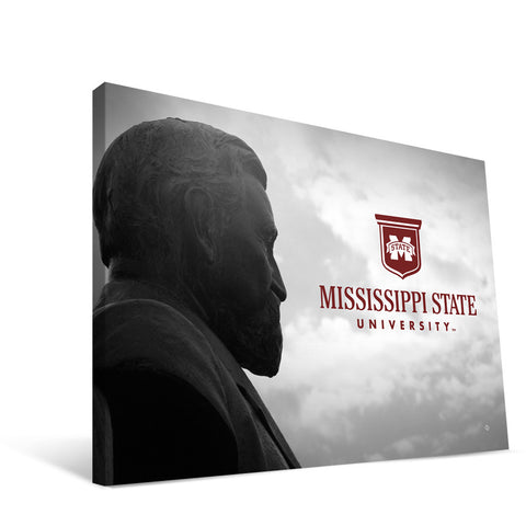 Mississippi State Bulldogs Lee Statue Canvas Print