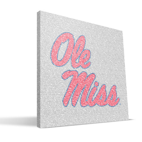 Ole Miss Rebels Typo Canvas Print