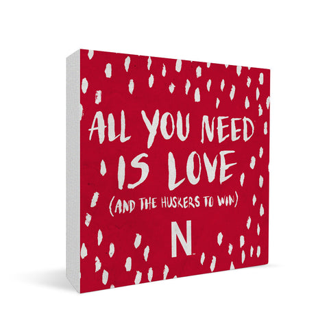 Nebraska Cornhuskers All You Need Square Shelf Block