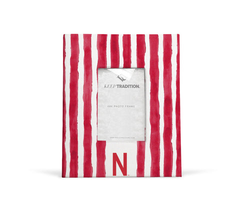 Nebraska Cornhuskers School Stripes Picture Frame