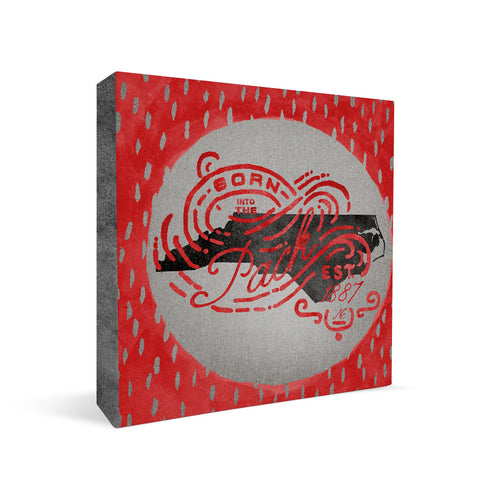 NC State Wolfpack Born a Fan Square Shelf Block
