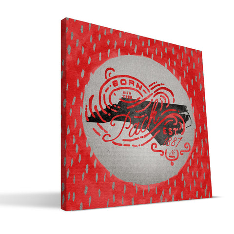 NC State Wolfpack Born a Fan Canvas Print