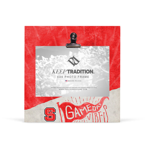 NC State Wolfpack Gameday Vibes Picture Frame with Clip