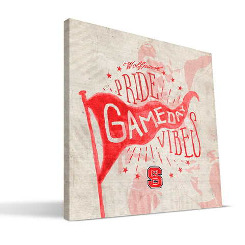 NC State Wolfpack Gameday Vibes Canvas Print