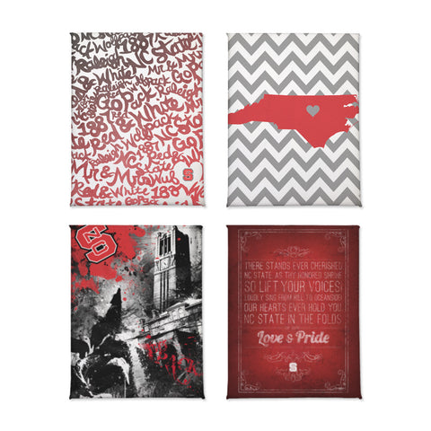 NC State Wolfpack Magnet Set