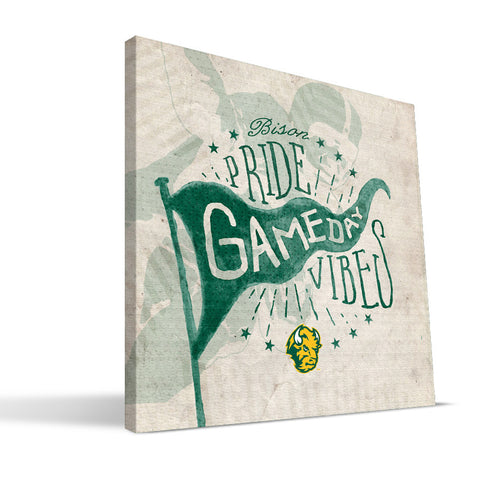 North Dakota Gameday Vibes Bisons Gameday Vibes Canvas Print