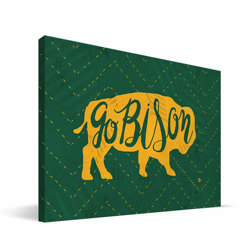 North Dakota State Bisons Mascot Canvas Print