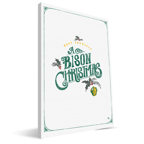 North Dakota State Bisons Merry Little Christmas Canvas Print