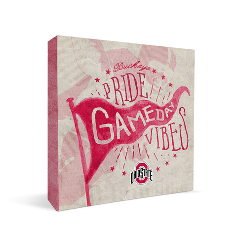 Ohio State Buckeyes Gameday Vibes Square Shelf Block