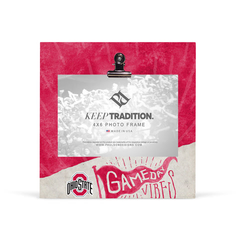 Ohio State Buckeyes Gameday Vibes Picture Frame with Clip